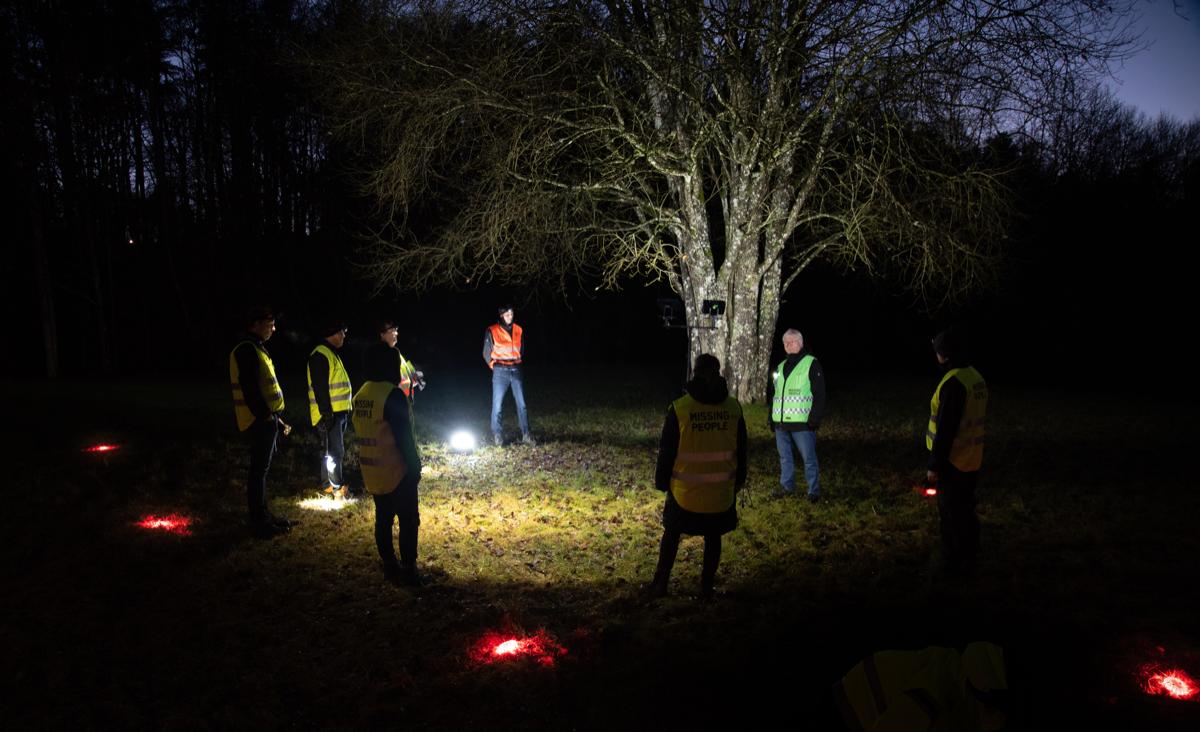 En bild som visar träd, utomhus, ljus, mörk  Automatiskt genererad beskrivning